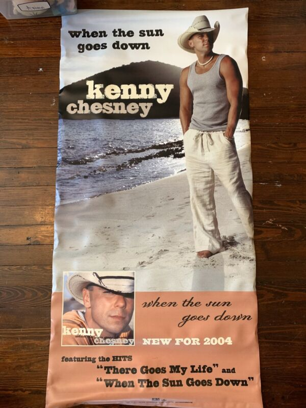 Kenny Chesney Canvas Banner - Store Promo Banner 2004 - Double Sided