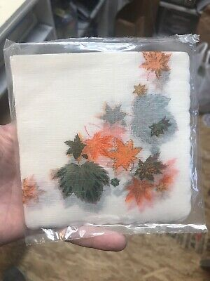 """Vintage Rice Paper Napkin Set Of 24 NOS Made In USA Decoupage Floral 9""""x9"""""""