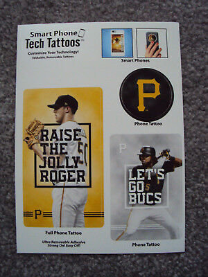 Pittsburgh Pirates Smart Phone Tech Tattoos Jameson Taillon Josh Bell MLB NEW!](Pittsburgh Pirates Tattoos)