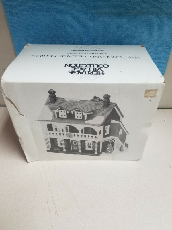"Dept 56 New England Village ""Captains Cottage"" #59471 w Light & Original Box"