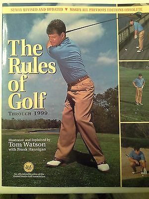 The Rules of Golf Through 1999 by Tom Watson Frank Hannigan Sports Man Cave