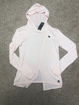NWT ABERCROMBIE KIDS PINK HOODED SUPER SOFT TOP, 9/10