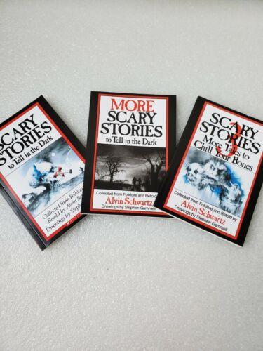 3x Scary Stories To Tell In The Dark Series Book Lot Set 1 2 3 Alvin Schwartz