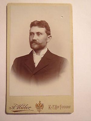 Wien - Herr Hugo Querch ? Quesch als Mann mit Bart - 1899 - Portrait / CDV