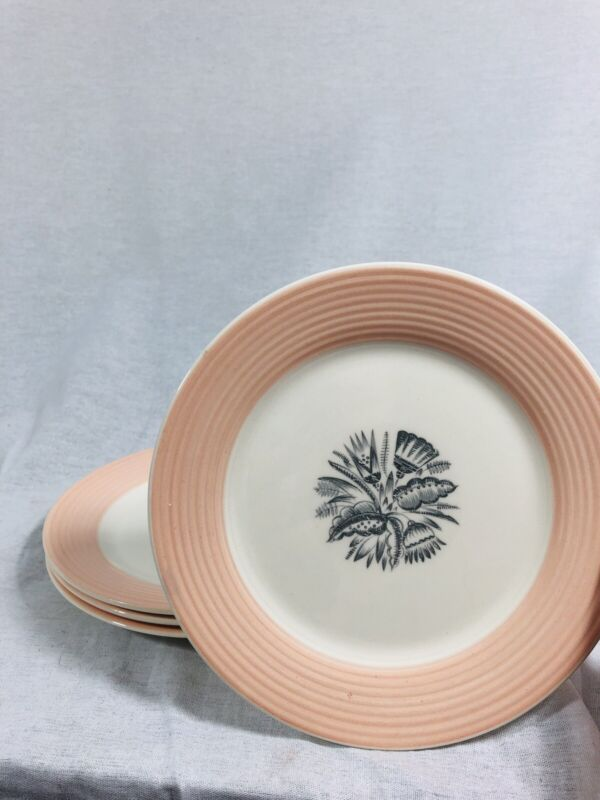 """Set Of 4 American Limoges Triumph Yorktown 6 1/2"""" Bread And Butter Plates"""