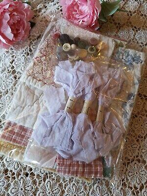 Vintage Fabric Antique Quilt Ribbon Durham Welsh Time Worn Patchwork Craft Pk 13