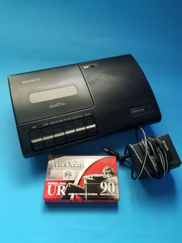 Sony Cassette-corder TCM-919 Portable Cassette Recorder Tested With Power Cord