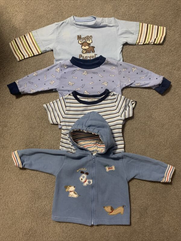 Lot Of 4 Baby Boy Infant Clothes Size 6-9 Months Pre-owned