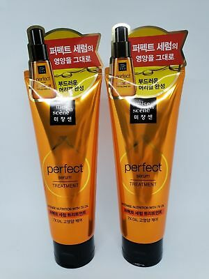2Pcs Mise en scene Perfect Serum Treatment pack 180ml Damaged Hair Care K Beauty