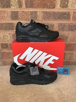 MENS NIKE AIR MAX IVO TRAINERS SHOES - TRIPLE BLACK - SIZE UK 8 - BNIB - GENUINE