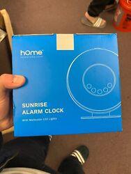 HomeLabs Sunrise Alarm Clock Digital LED Clock With 6 Color Switch And FM Radio