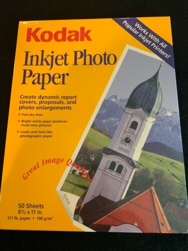 Kodak Inkjet Photo Paper 50 Sheets 8 1/2 x 11