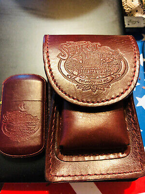 Retro Winston Select Leather Cigarette Case and Flip Top Lighter VINTAGE