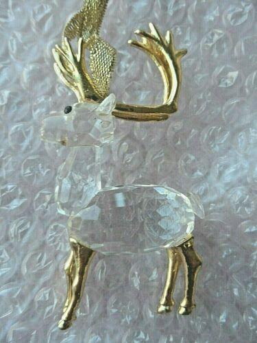 Glass Christmas Ornament - GLASS & METAL REINDEER