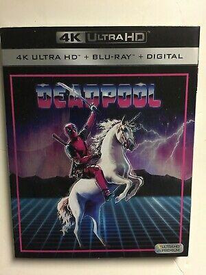 Deadpool (4K UHD Blu-ray/Blu-ray, 2018, 2-Disc, Digital HD) NEW w/slipcover