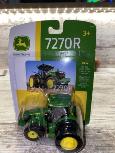 1/64th Scale John Deere 7270R Toy Tractor 4wd Duals Die Cast