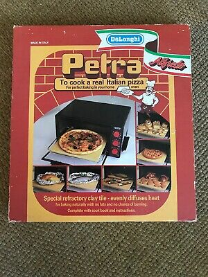 Delonghi Pizza Stone Rectangular Refractory Clay Tile W/ Recipe Book- Free Ship Pizza Stone Recipes