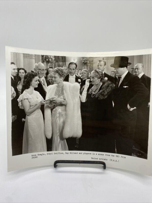 1940 Irene Promo Movie Photograph Anna Neagle, Ethel Griffies
