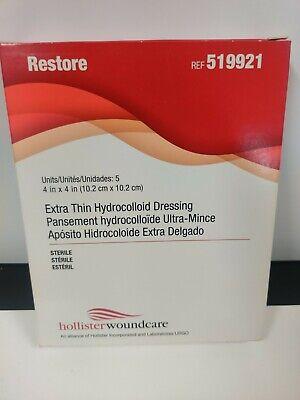 Hollister 519921 Extra Thin Hydrocolloid Dressing 4inx4in Qty5box