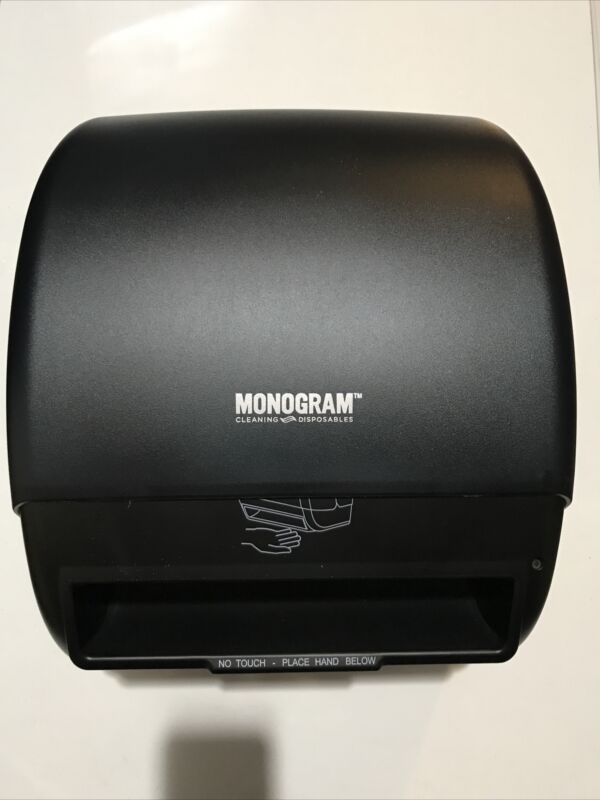 Monogram Paper Towel Roll Dispenser Automatic Hands Free Black