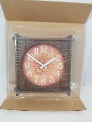 Vintage Spartus Kitchen Wall Clock 1979-Flowers-New Old Stock- 10.5 x 10.5