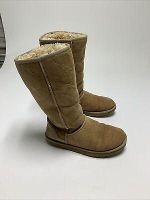UGG Classic Tall Women's Chestnut Sheepskin Boots #5815 Size 8