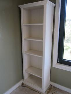 WHITE BOOKCASE SOLID TIMBER BOOKCASE BOOKSHELVES