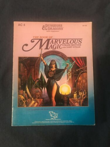"""Dungeons and Dragons - """"The Book of Marvelous Magic"""" - AC4"""