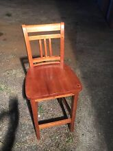 Solid Pine Bar Stools x 4, Maple Colour Londonderry Penrith Area Preview
