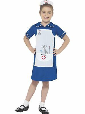 Girls Nurse Costume Kids Fancy Dress Outfit School Book Week Uniform Dressup - Kids Nurse Outfit