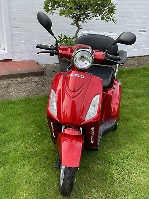 VELECO ZT15 3 Wheeled 900W Electric Mobility Scooter -Red-July2020, Immaculate