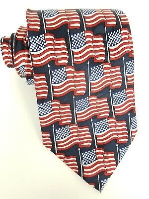 Keith Daniels Mens American Flag Tie Necktie Patriotic 4th Of July New With Tags