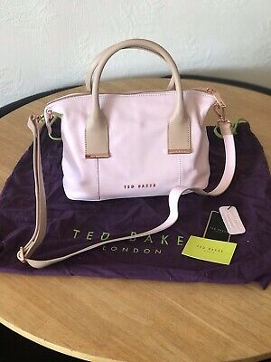 TED BAKER BABY PINK LEATHER SHOULDER/GRAB  BAG *NEW*