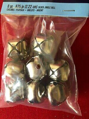 Silver Jingle Bells (8  PC  Jingle Bells SILVER .875 (2.22CM)  Darice Brand Christmas or Crafts)
