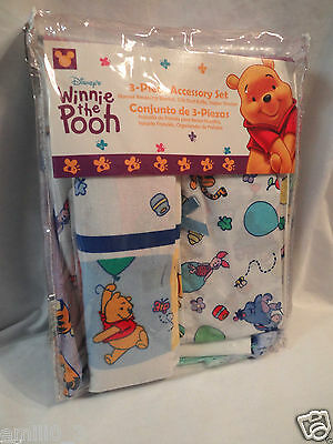 Diaper Crib Set (NEW IN PACKAGE WINNIE THE POOH 3 PIECE SET, BLANKET, CRIB RUFFLE, DIAPER)
