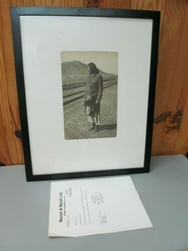 Antique Photograph of Native American Indian – Certified Iron Eyes Cody Estate