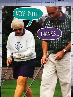 Happy Birthday Golf - Funny Humorous Golf Old Age Happy Birthday Card American Greetings