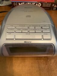 Memorex MC-2842 Silver Dual Alarm Clock AM/FM Radio CD Player Stereo