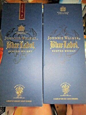 Empty Johnny Walker BLUE Label Bottle Satin Lined Box Outer Sleeve Cork Booklet