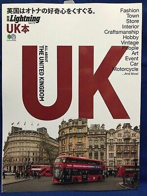 Lightning Extra Vol.178 All About UK United Kingdom Japanese Magazine Fashion