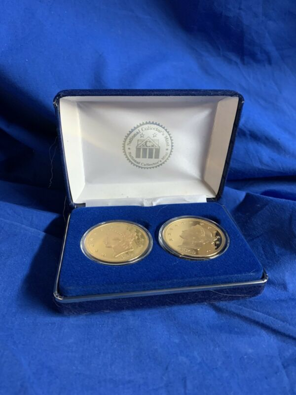 1849 Double Eagle Proof 2-Coin Set + Box National Collector
