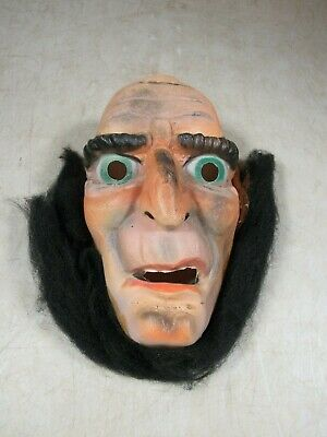 Vintage Van Dam Made In France Halloween Mask Scary Guy With Beard Rare HTF