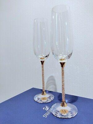 Swarovski Crystal Toasting Champagne Flutes Perfect Wedding Gift