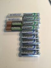 Rechargeable AA batteries (12) East Perth Perth City Preview
