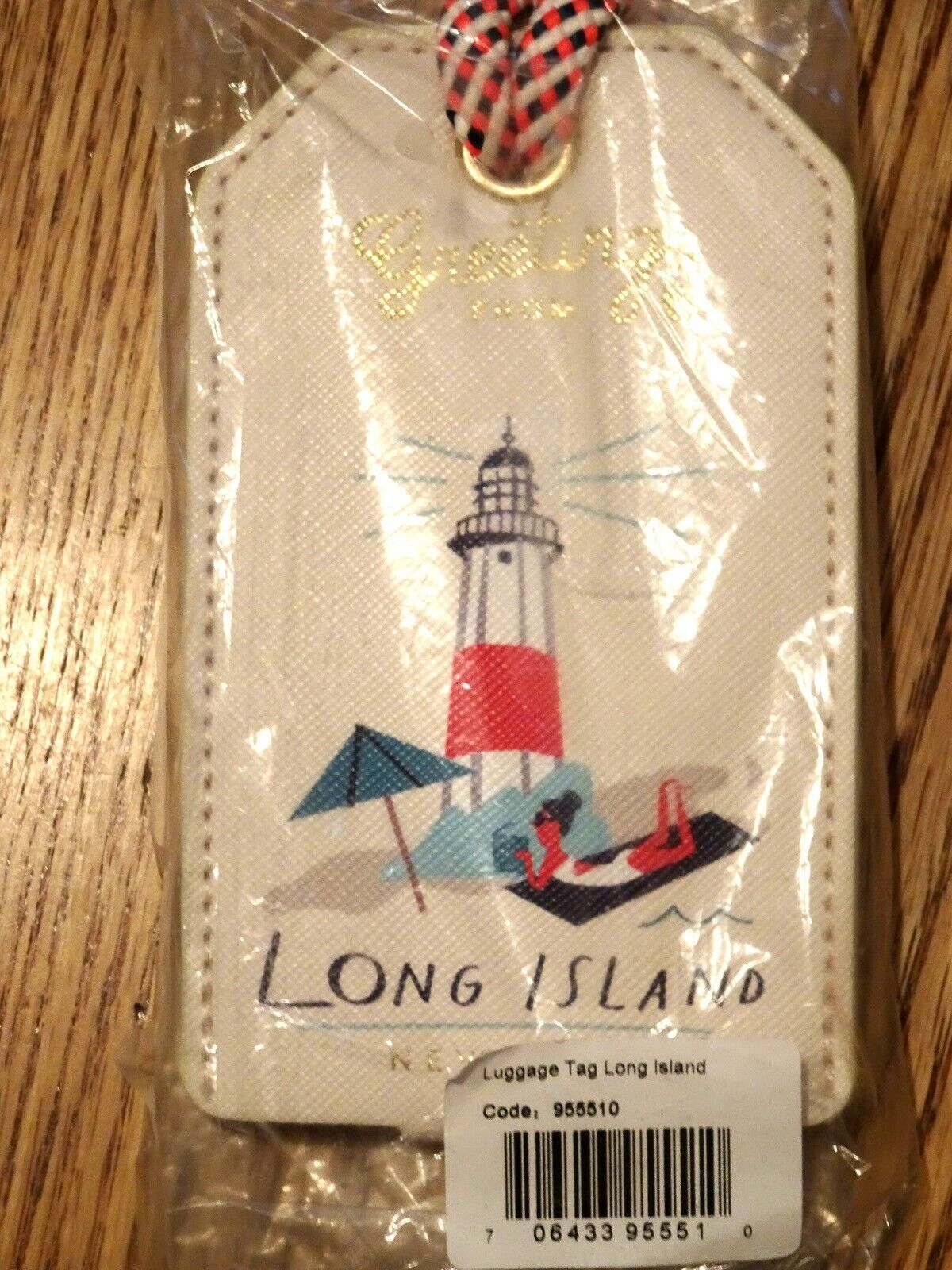 Retired Spartina 440 Greetings From Long Island New York Luggage Tag, NEW  - $7.99
