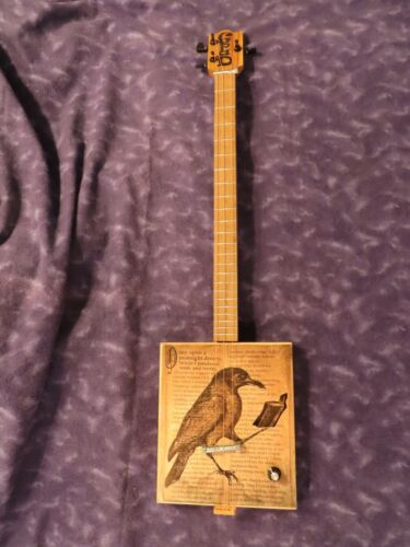 Reading Raven -GpaD Custom Made Cigar Box Guitars
