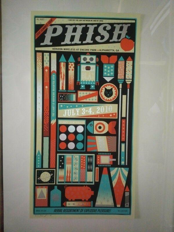 Phish - Verizon Wireless Amp - Alpharetta, GA 7/3/10 - Screen Print - Lee