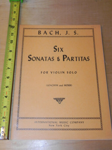 Bach J.S.  6 Sonatas and Partitas Violin Solo - Joachim Moser - SHEET MUSIC