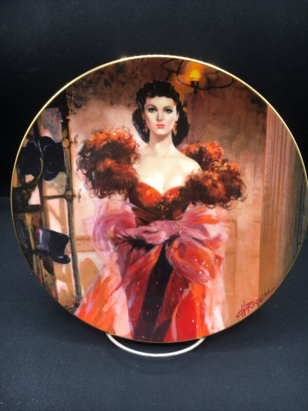 Scarlett's Resolve, Gone With The Wind - W. L. George Collector Plate ~