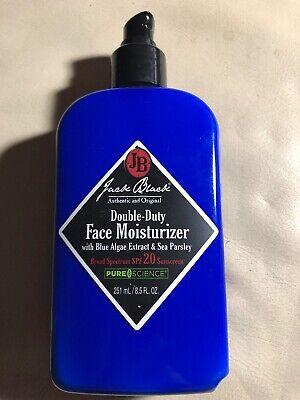 Jack Black Double-Duty Face Moisturizer SPF 20oz/251 ml  Large Size. NEW.